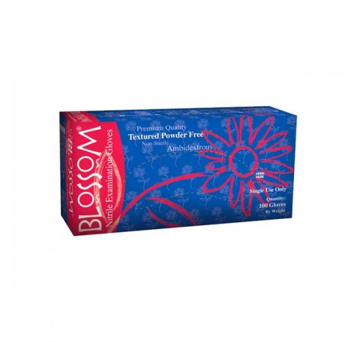 Out of Stock-Blossom Nitrile Glove, Blue (powder-free) 100pcs/box