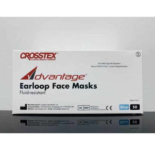 Crosstex Advantage Earloop Face Masks (Fluid-resistant)